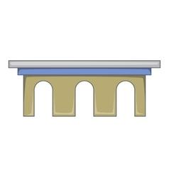 Iron bridge icon cartoon style vector image