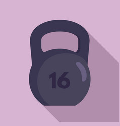 kettlebell icon flat style vector image