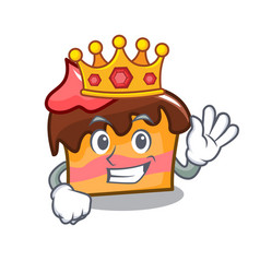 King sponge cake mascot cartoon vector