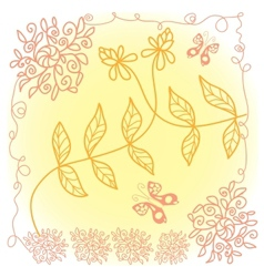 Lace floral pattern vector image vector image