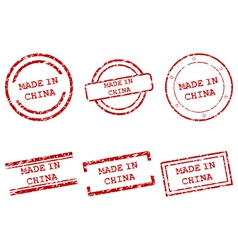 Made in China stamps vector image