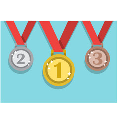medals to winners competition vector image