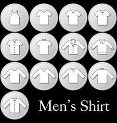 Men shirt icon vector image