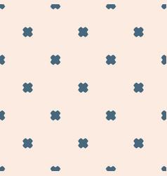 minimalist geometric floral seamless pattern pale vector image