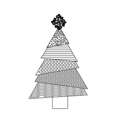 Monochrome background with abstract christmas tree vector
