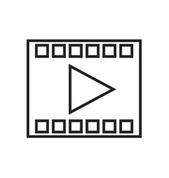 movie frame linear icon vector image