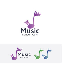 Music castle logo vector