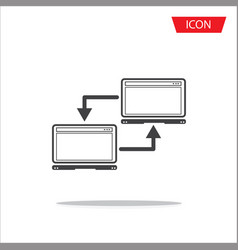 network connection between computers icon vector image