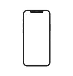 New version black and white slim smartphone vector