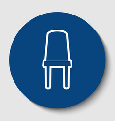 office chair sign white contour icon in vector image