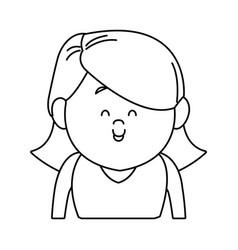 Portrait woman cartoon people female avatar vector