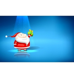Santa Claus with Gift vector image