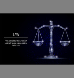 Scales of justice geometric polygonal vector