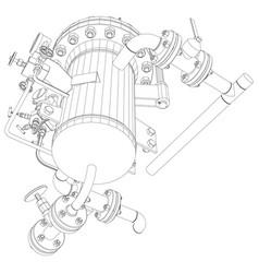 Scetch of heat exchanger vector