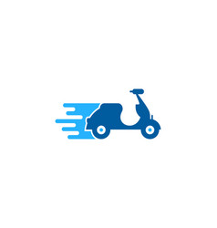 scooter delivery logo icon design vector image