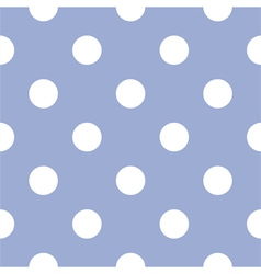 Seamless pattern white polka dots blue background vector