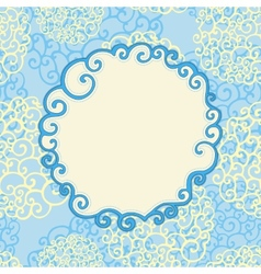 Seamless pattern with abstract doodle ornament and vector image