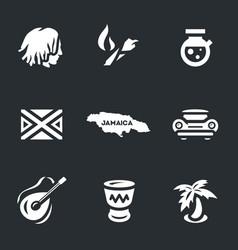 set jamaica icons vector image