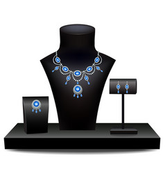 Set of jewelry on dummies vector