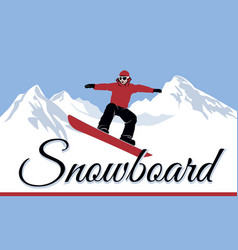 snowboarders winter sport vector image