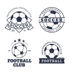 soccer and football posters vector image
