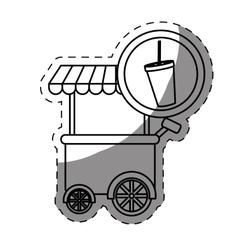 Soda fast food car icon vector