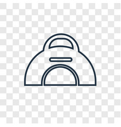 Sport bag concept linear icon isolated on vector