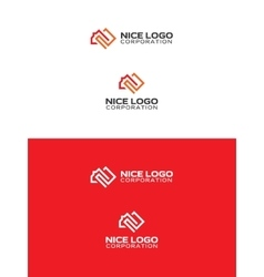 square meter logo vector image