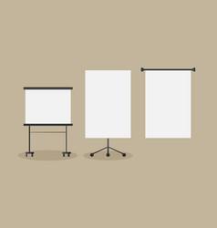 Stock blank board vector