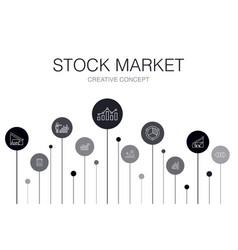 Stock market infographic 10 steps template broker vector