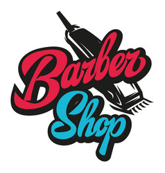 stylish retro icon with a comb and a machine for vector image