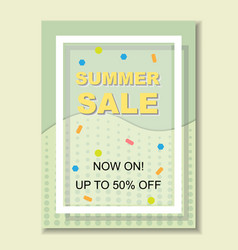 Summer sale banner template background vector