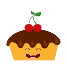 Sweet bakery character cute icon vector