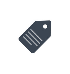 tag related glyph icon vector image