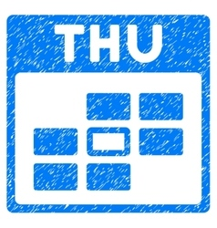 Thursday Calendar Grid Grainy Texture Icon vector