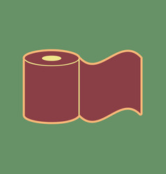 Toilet paper sign cordovan icon and vector
