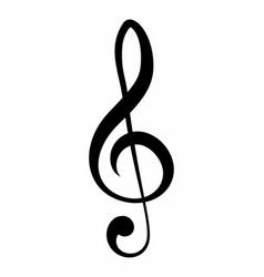 treble clef symbol vector image
