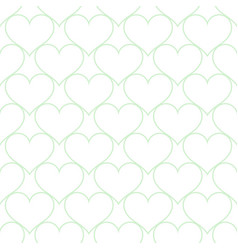 white blue hearts love seamless background pattern vector image