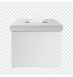 White election box mockup realistic style vector