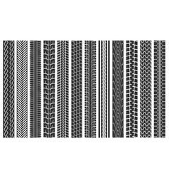 black tire tracks seamless pattern background vector image
