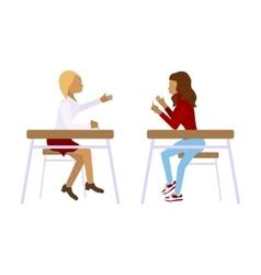 Concept of school students vector image vector image