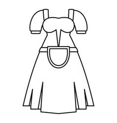 Germany dress icon outline style vector image vector image
