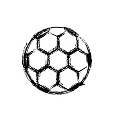monochrome sketch of soccer ball vector image vector image