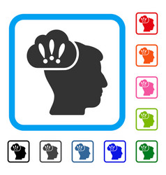 problem brainstorm framed icon vector image vector image