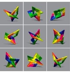 Puzzle element set vector image