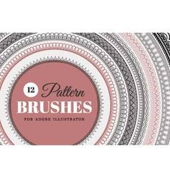 12 Pattern Brushes - Set vector image
