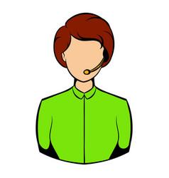 avatar icon cartoon vector image vector image