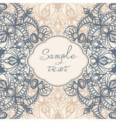 Frame with lace vector image
