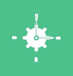 icon gear and watches vector image