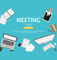 meeting graphic for business concept vector image vector image